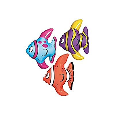 "Amscan 391727 Inflatable Decors Item, 6"", Multi Color: Kitchen & Dining"