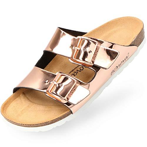 BOnova® Schwanberg Damen Sandalen - Bequeme Pantoletten in 9 Farben - Handmade IN Spain