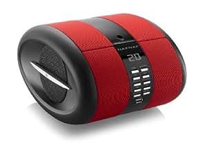 NAF NAF Sense -  Radiodespertador con CD MP3/USB, rojo