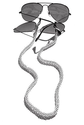 Sintillia Frost Glow Chain Sunglass Strap, Glasses Chain, Eyeglass Cord, Skinny (6mm) by Sintillia
