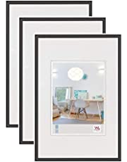 walther design KV040B3 New Lifestyle Kunststoff Bilderrahmen, 30x40 cm, schwarz, 3er Pack