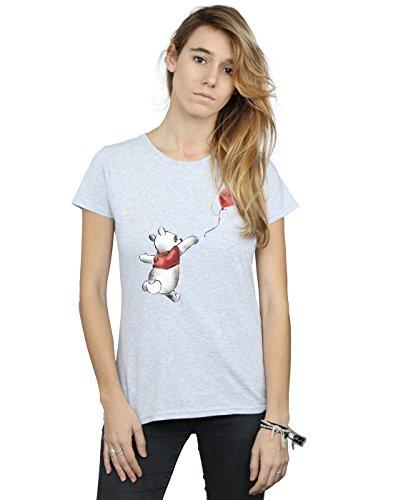 Disney Femme shirt Gris The Winnie T Balloon Pooh Sport 6O6rq