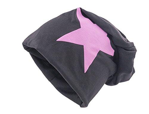 Negro XXL Shenky de Unisex punto rosa Gorro estrella con WSIqH