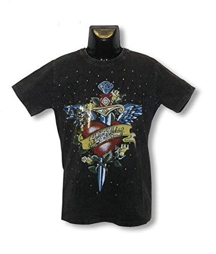 Horror-Shop Camisa de Tatuaje Oldschool Heart XL: Amazon.es ...