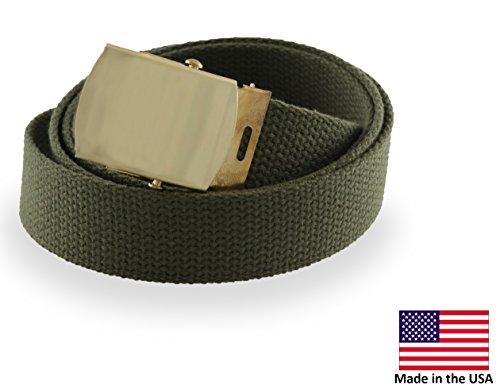 Cargo Cotton Military Brass Buckle Web Belt (Adjustable Web)