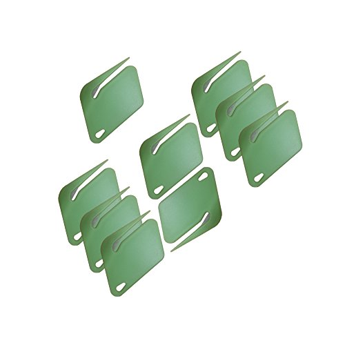 - Plastic Letter Opener, Envelope Slitter With Concealed Steel Blade - Green - 9 Pack. By Mega Stationer