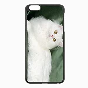 iPhone 6 Plus Black Hardshell Case 5.5inch - fluffy silk lie Desin Images Protector Back Cover