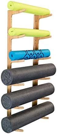 Ultra Fitness Gear Foam Roller and Yoga Mat Rack