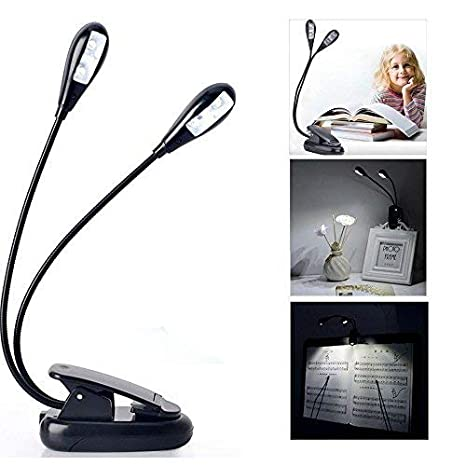 7 Almond Best Reading Light Clip On Book Lamp Battery