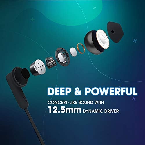 JBL Tune 215BT by Harman, in Ear Bluetooth Wireless Earphones with Mic, 16 Hours Playtime with Quick Charge, Pure Bass, Dual Pairing,Type C & Voice Assistant Support for Mobile Phones (Black)