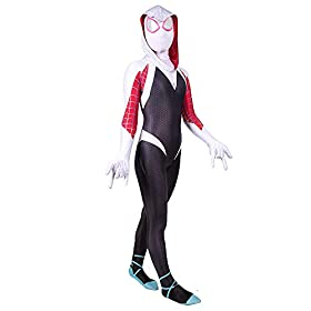 - 415u8CUOmyL - Spider Gwen Stacy Costume Into The Spider Verse Costume Kids 3D Style