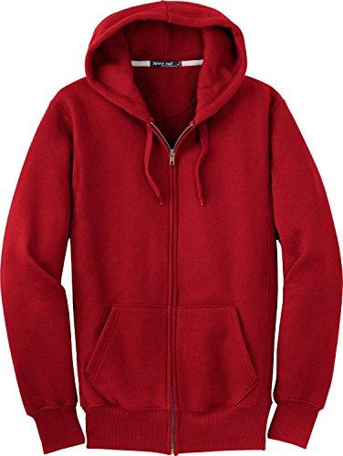 Sport-Tek Men's Super Heavyweight Full Zip Hooded Sweatshirt L Red