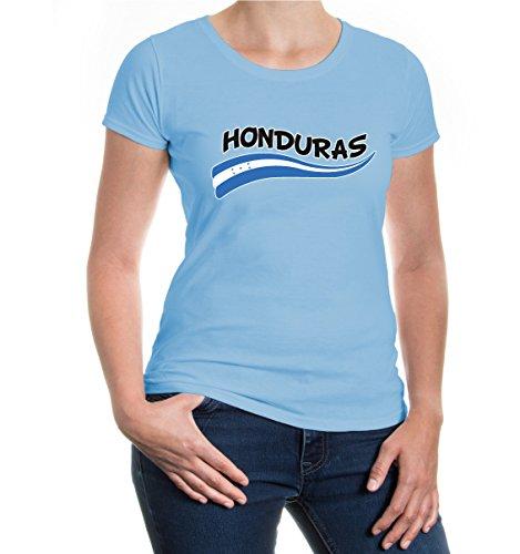 buXsbaum Girlie T-Shirt Honduras-Wave-M-Skyblue-z-direct