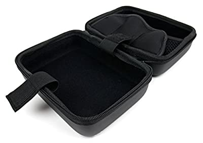 DURAGADGET Premium Quality Hard Shell EVA Box Case with Carabiner Clip & Twin Zips in Black for the Ortovox 3+ Avalanche Transceiver