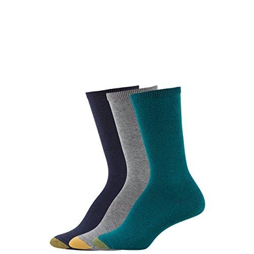 Gold Toe Womens 3-Pack 3-Pack Castaway Crew Socks
