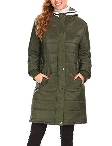 Misakia Women's Lightweight Packable Down Jacket Outwear Puffer Down Coats(Army Green L) by Misakia (Image #4)