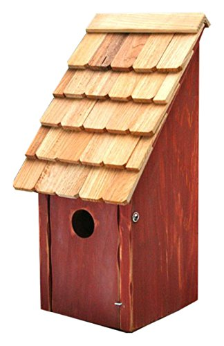 Heartwood 192D Bluebird Bunkhouse Bird House in Redwood Finish (Birdhouse Redwood Cypress)