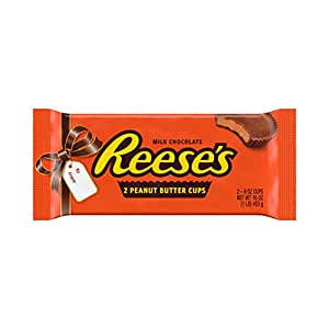 REESE'S Milk Chocolate Peanut Butter Candy, 1 Pound, 2 Giant Cups