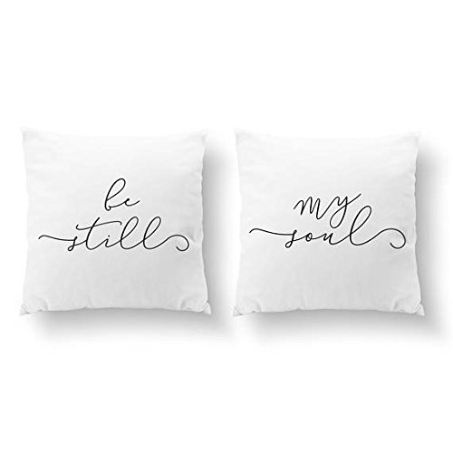 Oval Set Brooch (SET of 2 Pillow cover, Be Still My Soul, Wedding Gift, Throw Pillow Cover, Her Pillow Cover, Couple Pillow Cover, Him Pillow Cover, Cushion Cover, Gold Decorative Pillowcase, 16x16)