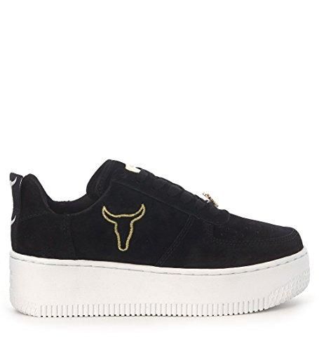 Suede Racerr Smith Sneaker in Nero Nero Windsor I1p4Pqxw4