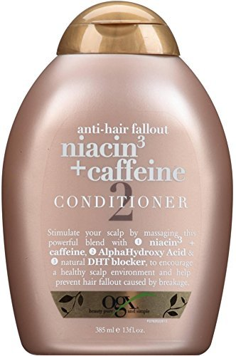 OGX Anti-Hair Fallout Niacin 3 + Caffeine Conditioner 13 oz (Pack of 4)