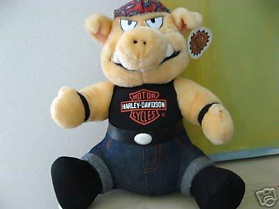 - Harley Davidson Biker Hog Plush Doll