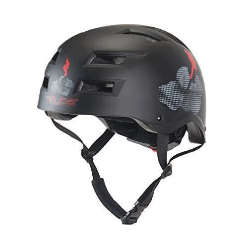 Flybar Dual Certified CPSC Multi Sport Kids and Adult Bike And Skateboard Adjustable Dial Helmet, S/M, Cloud Formations by Flybar