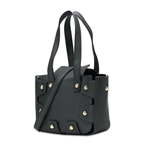 Faysting EU pelle piazza forma nero borsa a tracolla borsa a spalla elegante buon regalo san valentino