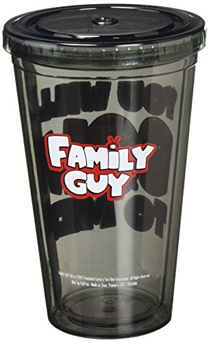 ICUP Family Guy Stewie You Will Bow Cup with Straw, Clear