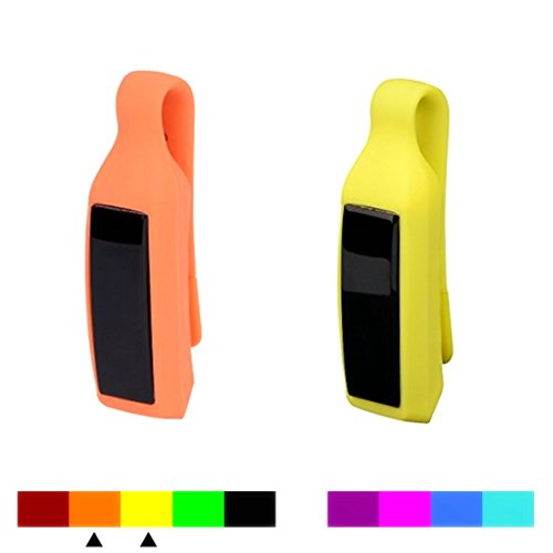 Dunfire Replacement Clip Case/Holder for Fitbit Alta (2PCS - Orange & Yellow)
