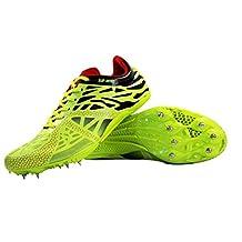 2017 Mens Women Boy Light Running Track Spike Rivset Sport Athletic Shoe Flat Size 45 US11