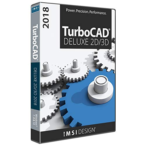 TurboCAD Deluxe 2018 DVD CAD Software For Windows (Software Turbocad)