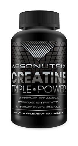 Cell Muscle Volumizer (Absonutrix Creatine Triple Power 5000mg - 120 Tablets Xtreme Stamina - Xtreme Strength - Xtreme Endurance)