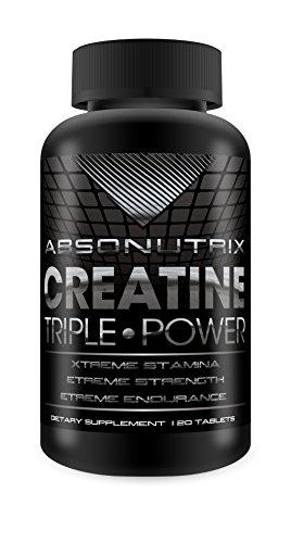 Absonutrix Creatine Triple Power 5000mg - 120 Tablets Xtreme Stamina - Xtreme Strength - Xtreme Endurance