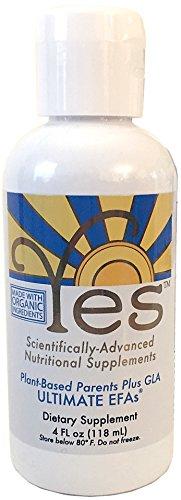 Yes Ultimate EFAs Parent Essential Oils Liquid 4oz, Based On The Peskin Protocol, Organic Plant Based, Omega 3 6, No Fishy -