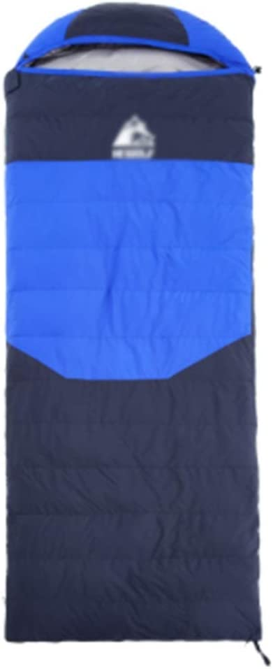 OUTDO Ultra Light Envelope Duck Down Sleeping Bag Waterproof Camping Outdoor Indoor For Spring Summer Autumn Color : Blue