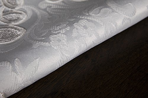Xia Home Fashions XD17190 Antebella Lace Embroidered Cutwork Table Runner, 15 by 108-Inch, White by Xia Home Fashions (Image #3)