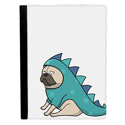 Pugs Wearing Halloween Costumes (Image Of Pug Wearing Funny Dragon Halloween Costume Dog Puppy Cartoon Drawing Apple iPad Pro 12.9 Inch Leather Flip Tablet Case)