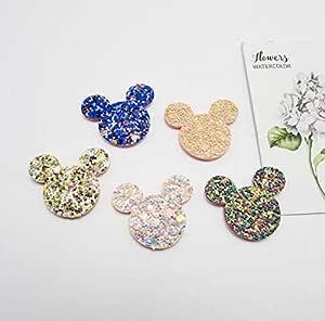 amazon com patches 50pcs lot 3 5cm shiny glitter cat head