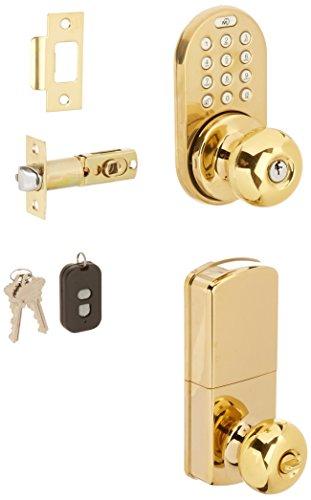 MiLocks XKK-02P Digital Door Knob Lock with Keyless Entry via Remote Control and Keypad Code for Interior Doors MiLocks