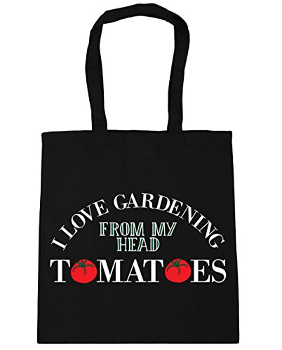 HippoWarehouse Tomatoes My Love Shopping 42cm Bag Black I Beach 10 x38cm litres Tote Gym Gardening Head From YngrYqwR