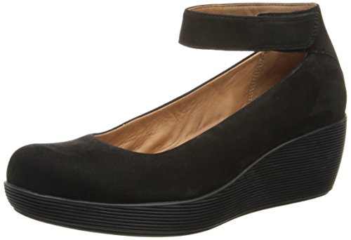 Clarks Womens Claribel Fame Wedge Pump Nero Nabuk