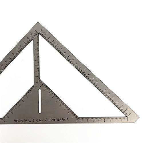 DyNamic 35Cm Winkel Lineal Metrisch Aluminiumlegierung Dreieck Messlineal Holzarbeiten Geschwindigkeit Quadrat Dreieck Winkel Winkelmesser