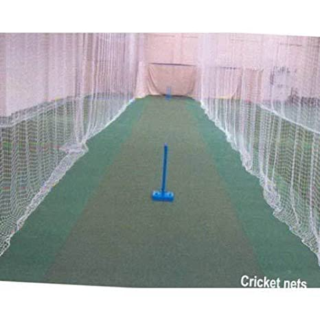 easyshoppingbazaar Anti Bird Cum Home Cricket Practice Net with Clips and Tying Ropes, 20 X 40ft (White)
