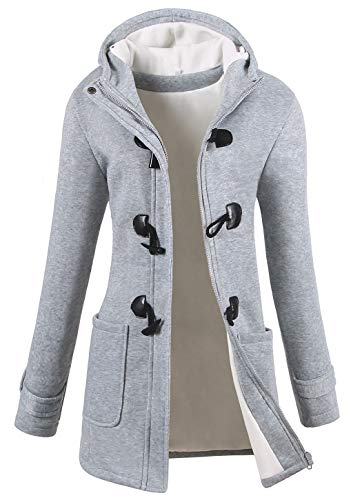 VOGRYE Womens Winter Fashion Outdoor Warm Wool Blended Classic Pea Coat Jacket...