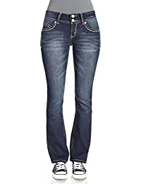 WallFlower Juniors Luscious Curvy Basic Bootcut Jeans