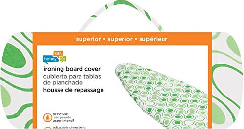 Honey-Can-Do IBC-01288 Superior Ironing Board Cover with Pad Dots, Green