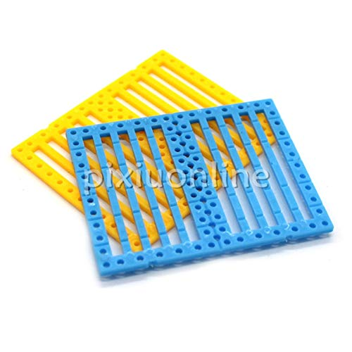 Blue/Yellow 7560mm Multi-Hole Plastic Board DIY Model Car Faceplate Free Russia Shipping - (Color: Blue) ()