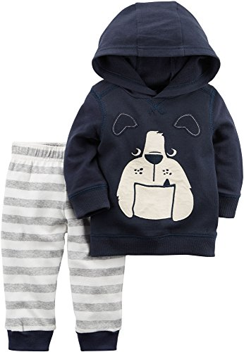 Carters 2 Boys Piece (Carter's Baby Boys' 2 Piece French Terry Hoodie and Joggers Set 6 Months)