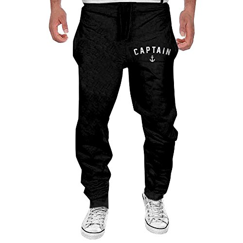 Nautical Anchor Captain Sailing Boat Sweatpants 100 Cotton Mens (Nautical Sweatpants)